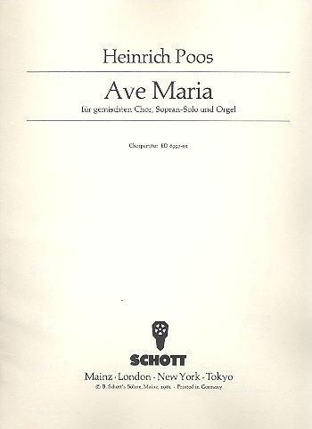 9780001073685: Ave Maria - Mixed Choir [SATB], Soprano-Solo and Organ - SCORE