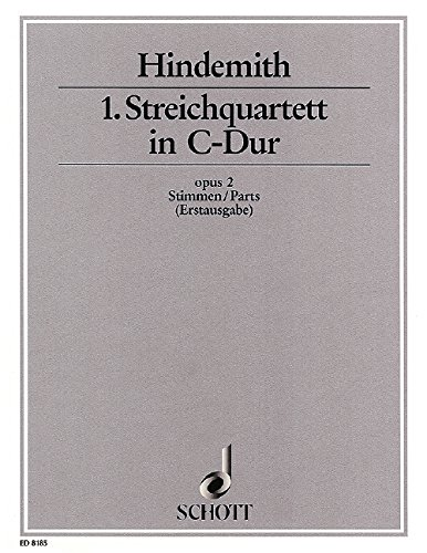 9780001083837: 1st String Quartet C Major op. 2 (First Edition)