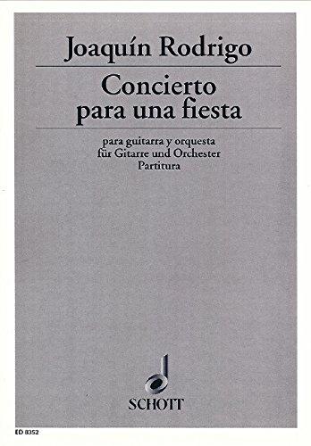 9780001084902: Concierto para una fiesta - guitare et orchestre - Partition - ED 8352