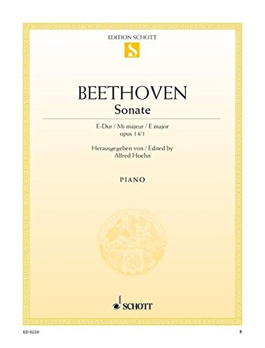 9780001085299: Sonata in E Major, Op. 14/1 for Piano by Ludwig van Beethoven