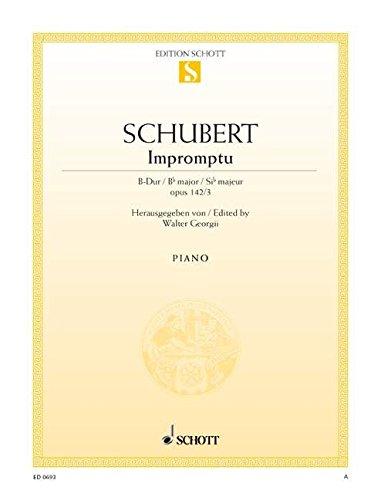 9780001086333: SCHOTT SCHUBERT FRANZ - IMPROMPTU OP. POSTH. 142 D 935/3 - PIANO Partition classique Piano - instrument à clavier Piano