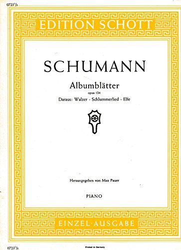 9780001086401: Albumblätter op. 124 (Walzer - Schlummerlied - Elfe)