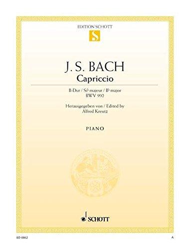 9780001086555: Capriccio B flat Major BWV 992 (The departure)