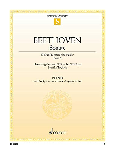 9780001086760: Beethoven: Sonate facile D-Dur (Piano Duet)