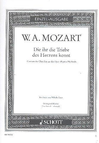 9780001087101: The Marriage of the Figaro - 'Die ihr die Triebe des Herzens kennt' - Edition Schott - Single Edition - soprano and piano - ED0 1235
