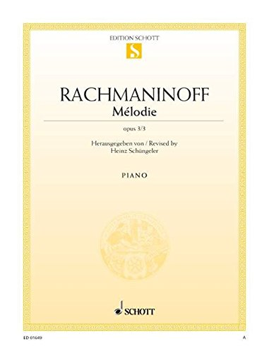 9780001087552: Rachmaninoff Melodie Opus 3 No. 3
