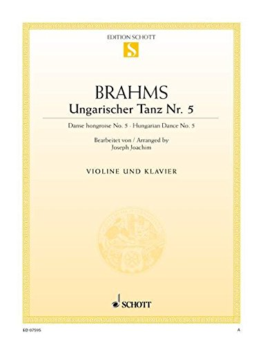9780001090224: SCHOTT BRAHMS JOHANNES - HUNGARIAN DANCE - VIOLIN AND PIANO Classical sheets Violin