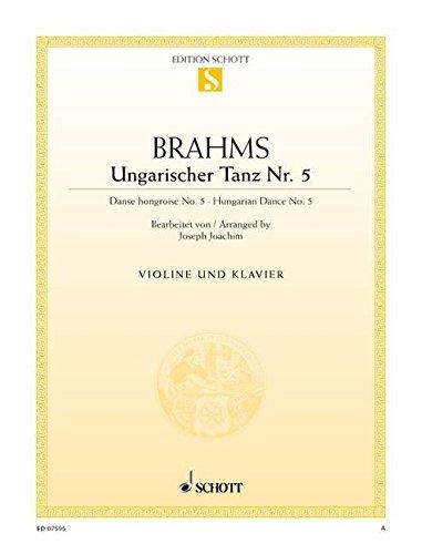 9780001090224: Hungarian Dance, No. 5: Violin and Piano