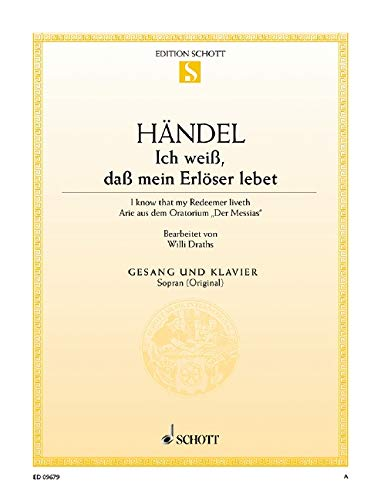 9780001092006: Der Messias - Soprano Voice and Piano - Book