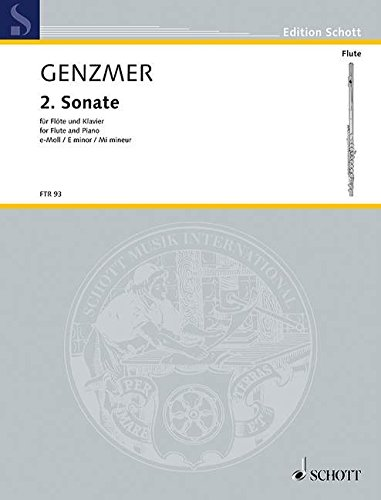 9780001093980: SCHOTT GENZMER HARALD - SONATA NO. 2 IN E MINOR - FLUTE AND PIANO Partition classique Bois Flûte traversière