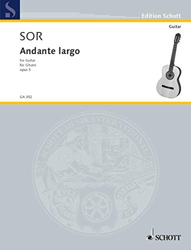9780001096479: SCHOTT SOR FERNANDO - ANDANTE LARGO AUS OP. 5 - GUITAR Classical sheets Guitar