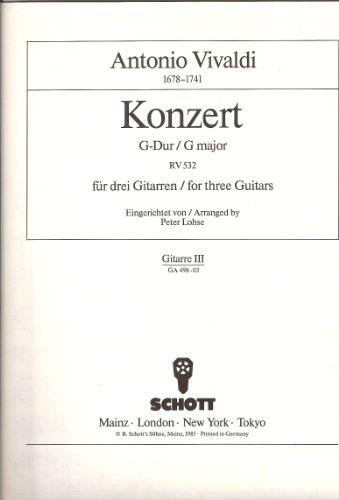 9780001097469: Konzert G-dur Rv 532