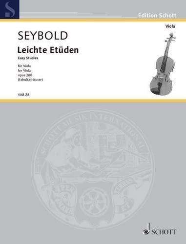 9780001102231: SEYBOLD - Easy Studies (Estudios Faciles) Op.280 para Viola (Schultz/Hauser)