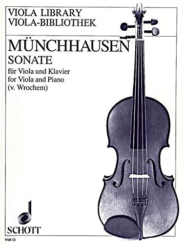 9780001102484: SCHOTT MNCHHAUSEN AUGUST BARON VON - SONATA C MAJOR OP. 10 - VIOLA AND PIANO Partition classique Guitare - luth Luth