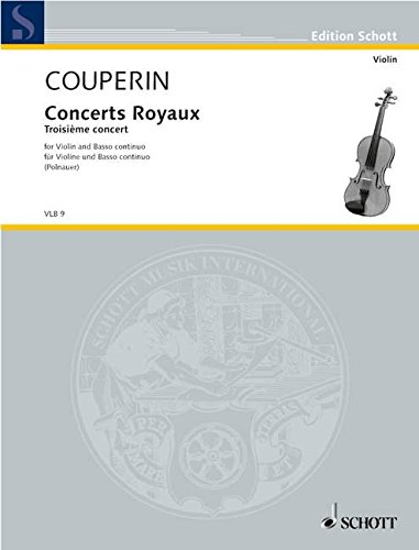 9780001102576: Concerts royaux - Violin and Basso Continuo - Book