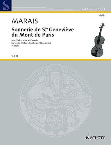 9780001102903: SCHOTT MARAIS MARIN - SONNERIE DE STE GENEVI�VE DU MONT DE PARIS Classical sheets Violin