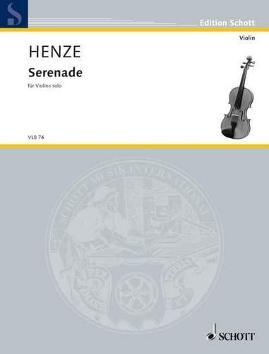 9780001103306: SCHOTT HENZE HANS WERNER - SERENADE - VIOLIN Classical sheets Violin