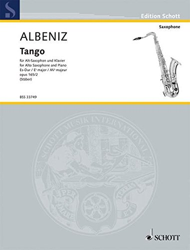 9780001107595: Tango for Alto Saxophone and Piano by Isaac Albeniz