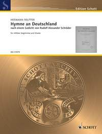 9780001109681: Hymne an Deutschland - Medium Voice and Piano - Book