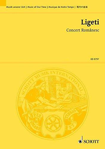 9780001122901: Concert Românesc - Music Of Our Time - petit orchestre - Partition d'étude - ED 8797