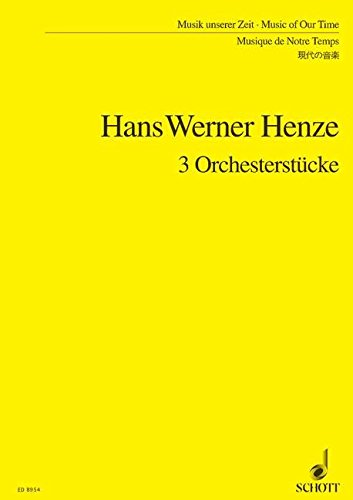 9780001125230: 3 Pieces for Orchestra (based on a piano music by Karl Amadeus Hartmann)