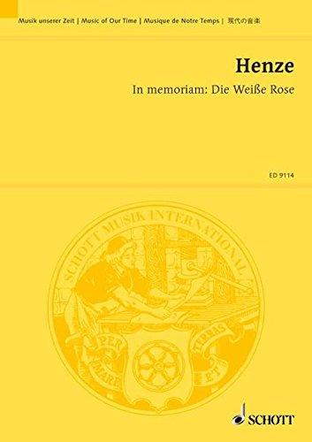 9780001125780: In memoriam: Die Weiße Rose (Double fugue)