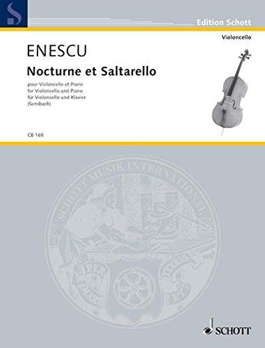 9780001126657: Enescu (Enesco): Nocturne et Saltarello (Cello & Piano)