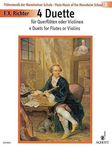 9780001126930: 4 Duette - Flute Music from the Mannheim School - 2 flûtes (violons) - ED 8665