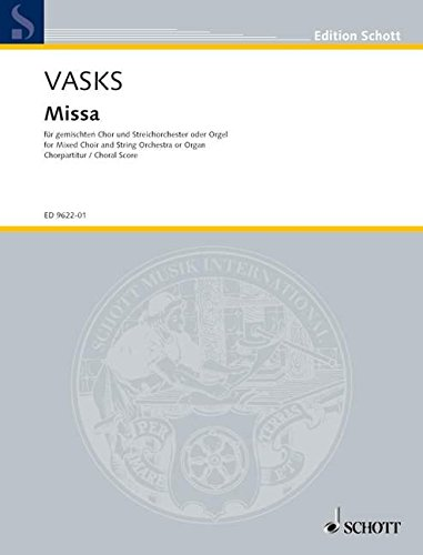 9780001134959: Missa (2001) - Gch Str (org)