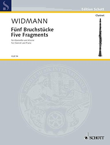 9780001136113: Widmann: Five Fragments (Clarinet in A/Bb and Piano)
