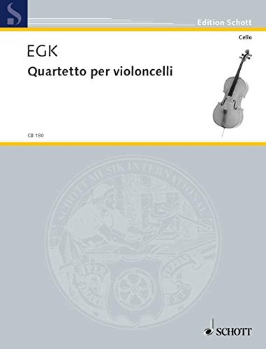 9780001138278: Quatuor pour violoncelles - 4 violoncelles - Partition et parties - CB 180