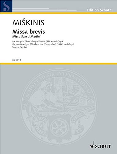 9780001140158: Missa Brevis SSAA and Organ