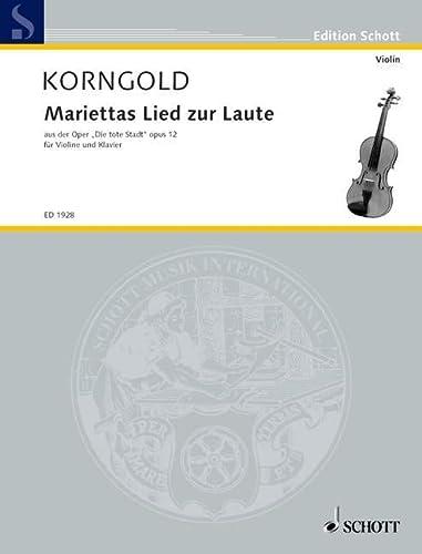9780001140257: Korngold: Mariettas Lied zur Laute, Op.12 (from Opera