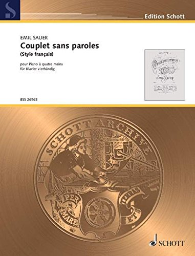 9780001141278: Couplet sans paroles - (Style francais) - piano � 4 mains - BSS 26963
