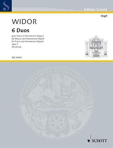 9780001141322: SCHOTT WIDOR CHARLES MARIE - SIX DUETS - PIANO AND ORGAN Classical sheets Piano