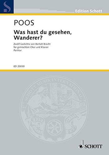 9780001144866: Was hast du gesehen, Wanderer? (12 Poems by Bertolt Brecht)