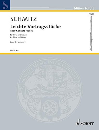 9780001146372: SCHOTT EASY CONCERT PIECES BAND 1 - FLUTE AND PIANO Classical sheets Transverse Flute