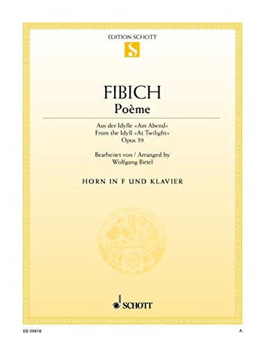 9780001149366: Pome arr. Wolfgang Birtel for Horn in F and Piano