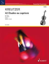 9780001150782: 42 Etudes Ou Caprices: For Violin