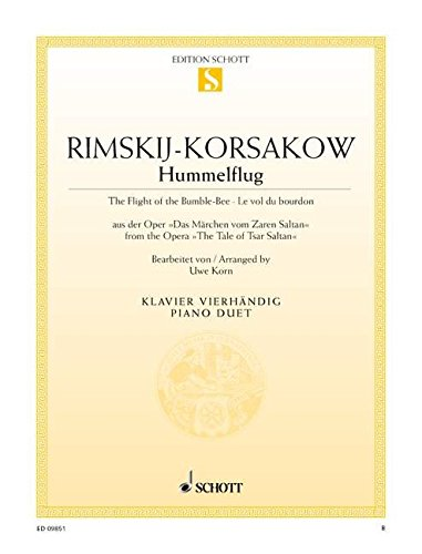 9780001153547: SCHOTT RIMSKY-KORSAKOV NIKOLAI - THE FLIGHT OF THE BUMBLE-BEE - PIANO Classical sheets Piano