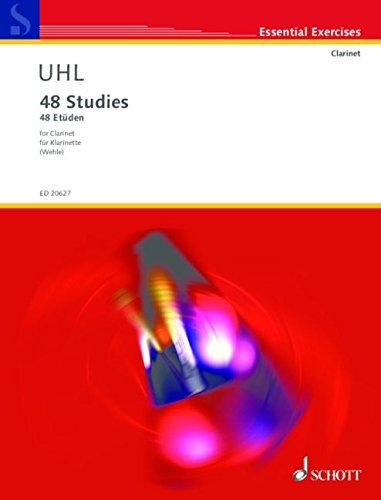 9780001168268: SCHOTT UHL ALFRED - 48 STUDIES - CLARINETTE Classical sheets Clarinet