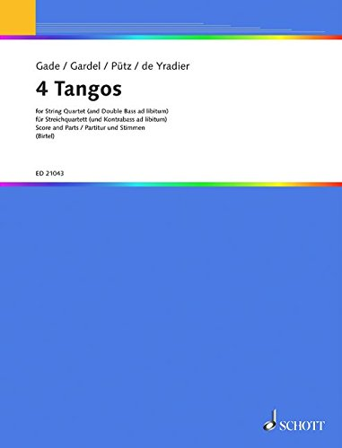 9780001175815: 4 Tangos for String Quartet (+ optional Double Bass) Score & Parts