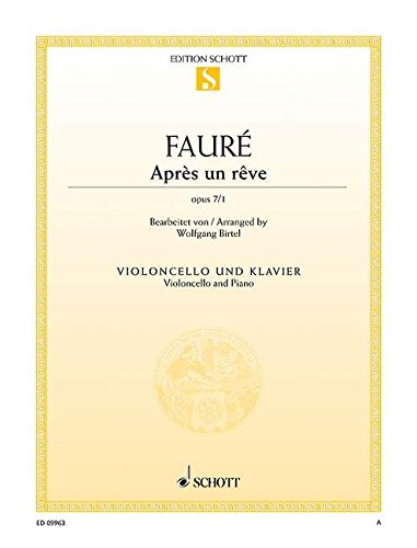9780001189669: Apr�s un r�ve op. 7/1 - Violoncello and Piano - Book