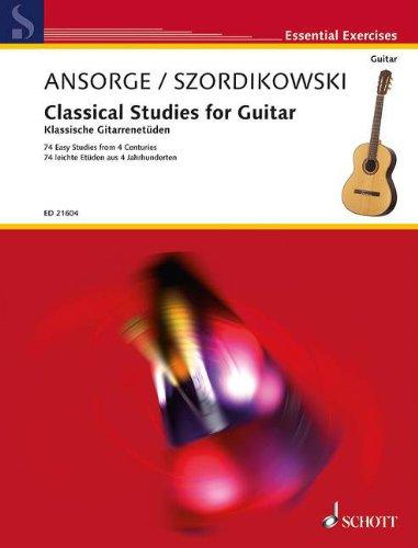 9780001192478: Classical studies for guitar - Ansorge / Szordikowski - 74 leichte Etüden aus 4 Jahr