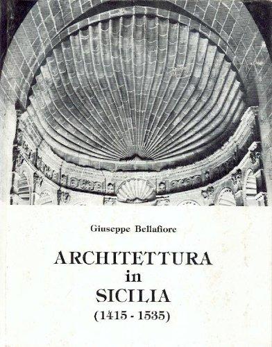 9780001270121: architettura in sicilia 1415-1535