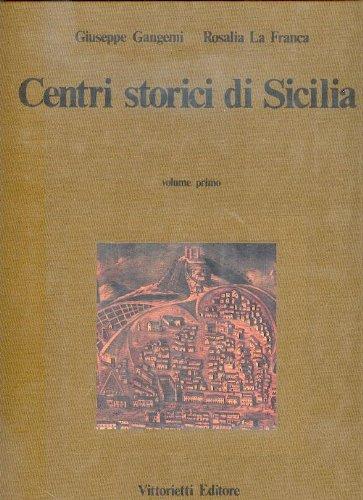 9780001273856: centri storici di sicilia