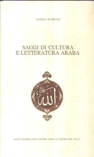 9780001279742: saggi di cultura e letteratura araba