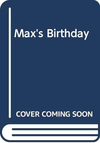 9780001384309: Max's Birthday