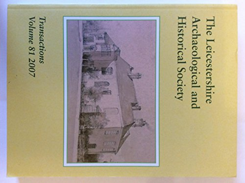 9780001403994: THE LEICESTERSHIRE ARCHAEOLOGICAL & HISTORICAL SOCIETY VOL. L1V 1978-9
