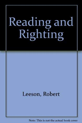 9780001844131: Reading and Righting
